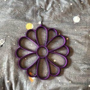 Floral scarf hanger